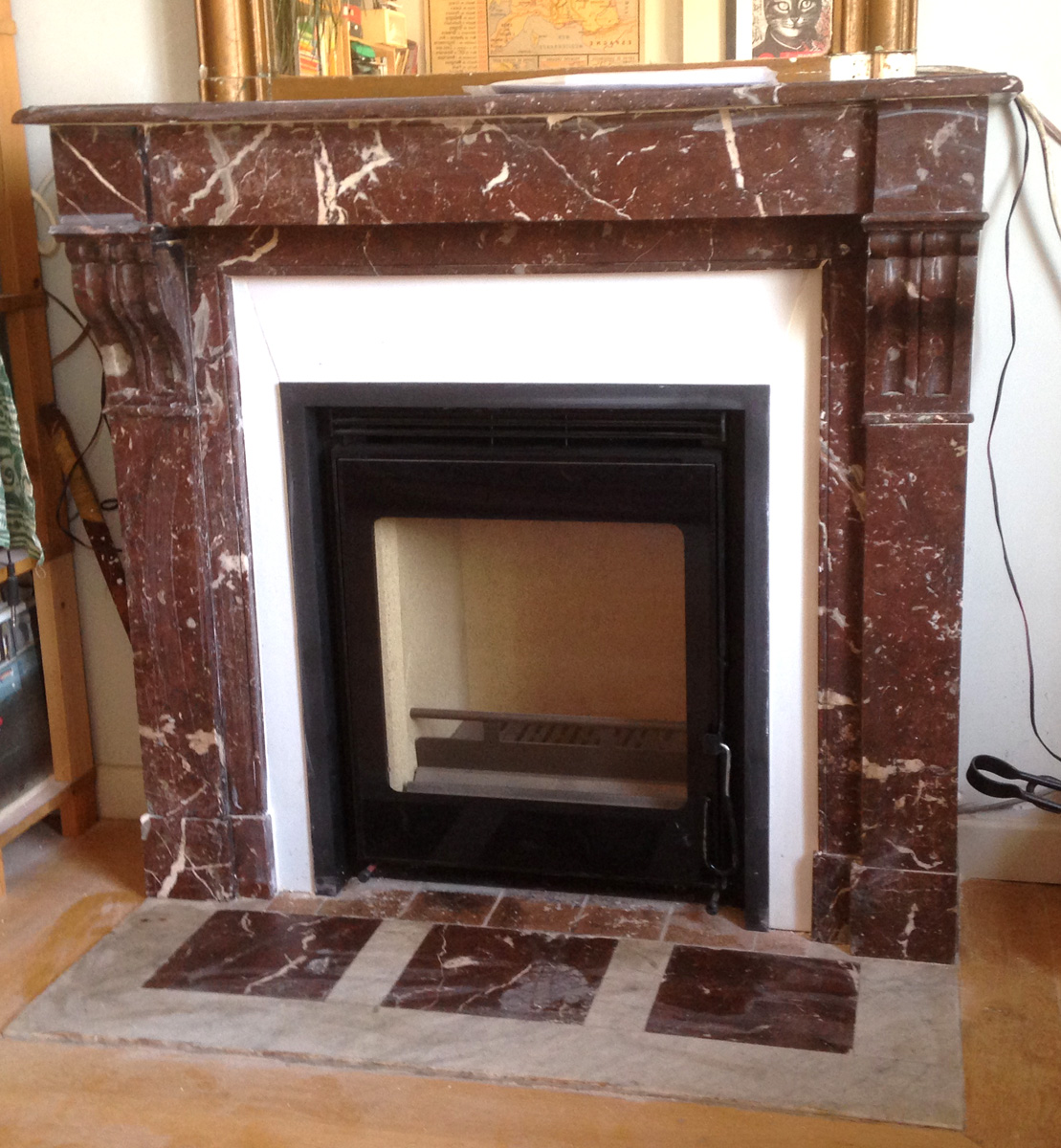 Installer insert dans chemin e ancienne nw82 jornalagora - Decoration cheminee marbre ...