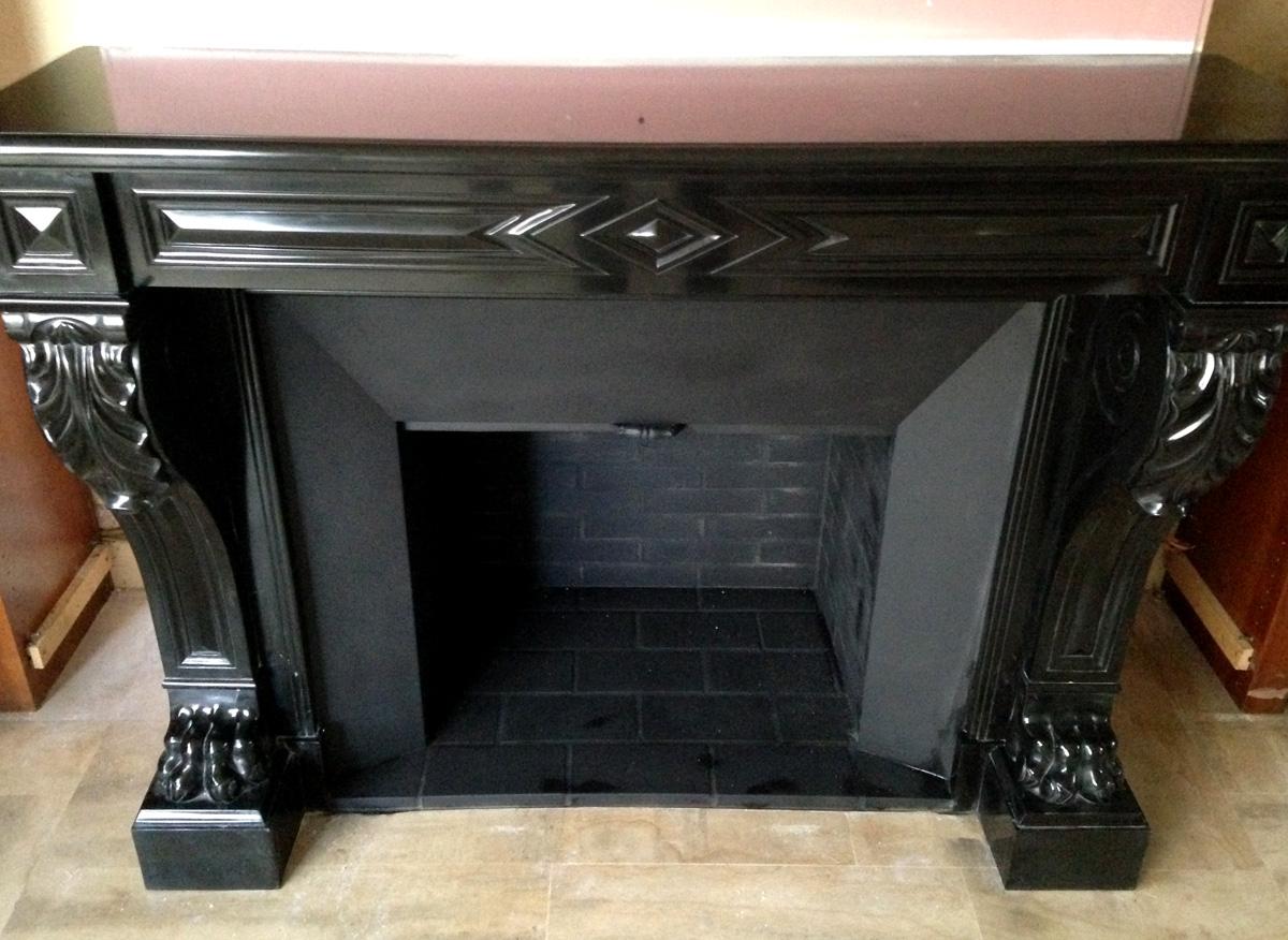 installation d une chemin e napol on iii pattes de lions le plaisir du feu. Black Bedroom Furniture Sets. Home Design Ideas